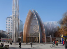 A visual representation of what the church believes an extreme makeover cathedral might look like