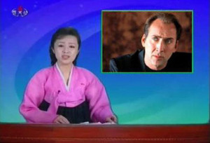 State-run news agency KCTV announces the taking of three American hostages including popular actor Nicolas Cage