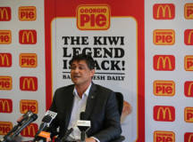 McDonald's New Zealand managing director Patrick Wilson says he hopes to make the return of Georgie Pie as disappointing as possible.