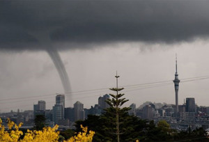 Auckland residents say that stormy weather has provided them with the comforting illusion that something dramatic is happening.