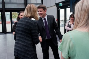 John Campbell says goodbye to MediaWorks staff after being jointly seized by three banks this morning.