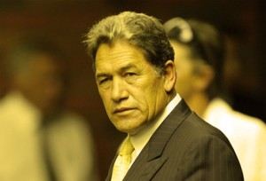 "Winston Peters has hailed the statue as a ""small step"" toward mending his relationship with the Government."