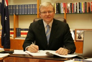 Kevin Rudd has been relieved to discover that he is still Prime Minister and his party isn't the smoldering crater it appeared to be in his dream.