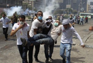 Violence in Egypt overnight has resulted in the death of nearly 300 Egyptians, or about 13 white people.