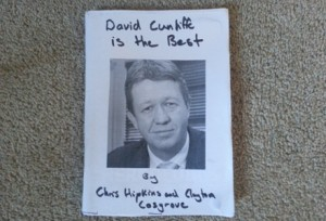 David Cunliffe is the Best, an authorised biography by Chris Hipkins and Clayton Cosgrove.