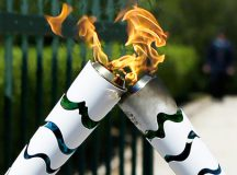 It is believed that the torch thief may have mistaken it for a giant cigarette