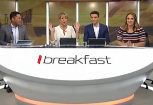 UFO sighting over Auckland was just new Breakfast desk