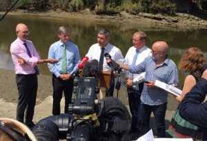 "Environment Minister Nick Smith says the country's rivers will ""almost universally"" be swimmable by 2040, but urges New Zealander's not to drink from them."