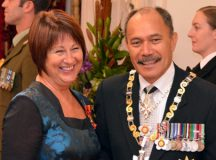 Former Governor General Jerry Mateparae, pictured here during an early valuation of National MP Maureen Pugh