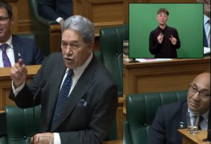 The unusual and wildly off-topic rant occurred for the exact duration of Peters' speech.