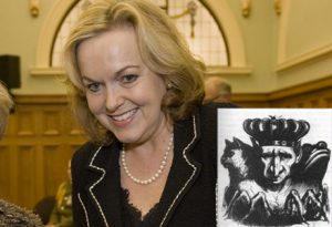 PICTURED: Judith Collins and her chief benefactor (inset)