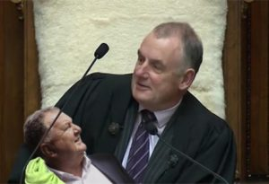 Speaker Trevor Mallard was left to look after Jones, while his usual caretaker, Winston Peters, underwent surgery.