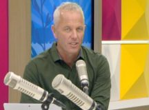 Mark Richardson appeared visibly unsettled after an unguarded moment on live television.