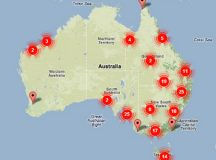 """A map of believed New Zealand sleeper cells in Australia, which the Australian Secret Intelligence Service has described as """"painfully obvious"""" and believes is """"pretty much comprehensive."""""""